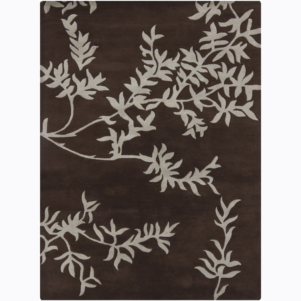 Artist's Loom Hand-tufted Transitional Floral Wool Rug (7'x10')