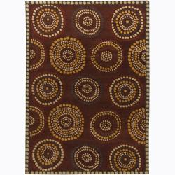 Artist's Loom Hand-tufted Contemporary Geometric Wool Rug (5'x7') - 5' x 7' - Thumbnail 0