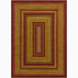 Artist's Loom Hand-tufted Contemporary Geometric Wool Rug (5'x7') - Thumbnail 0