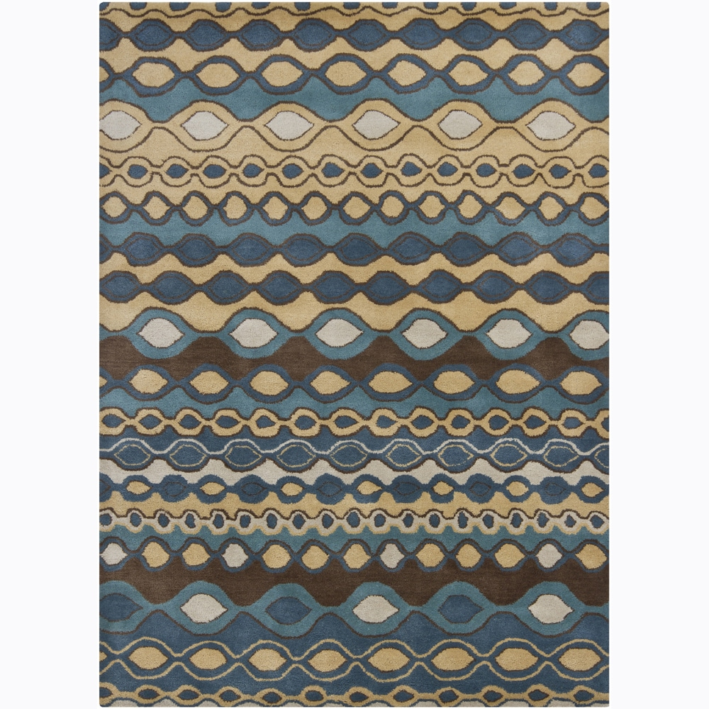 Artist's Loom Hand-tufted Contemporary Geometric Wool Rug (7'x10')