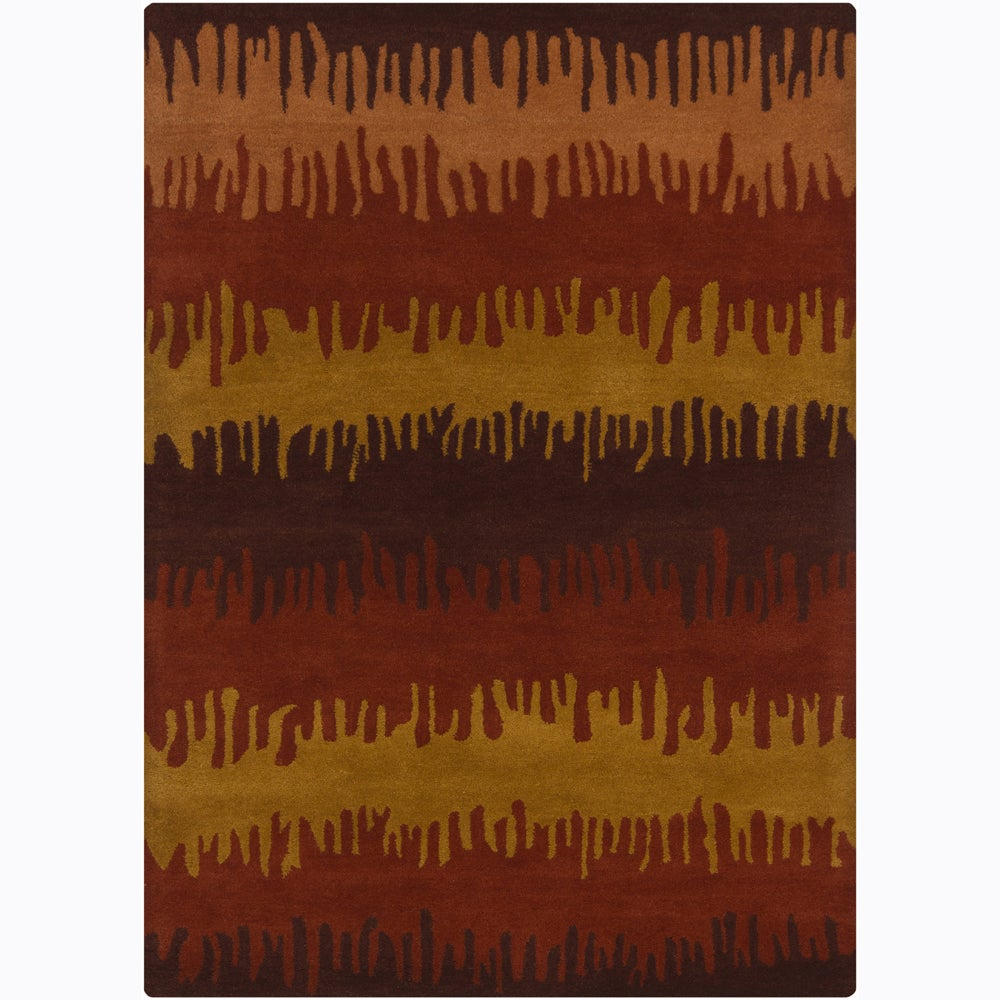 Artist's Loom Hand-tufted Contemporary Abstract Wool Rug (7'x10') - 7'x10'