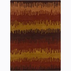 Artist's Loom Hand-tufted Contemporary Abstract Wool Rug (7'x10') - 7'x10' - Thumbnail 0