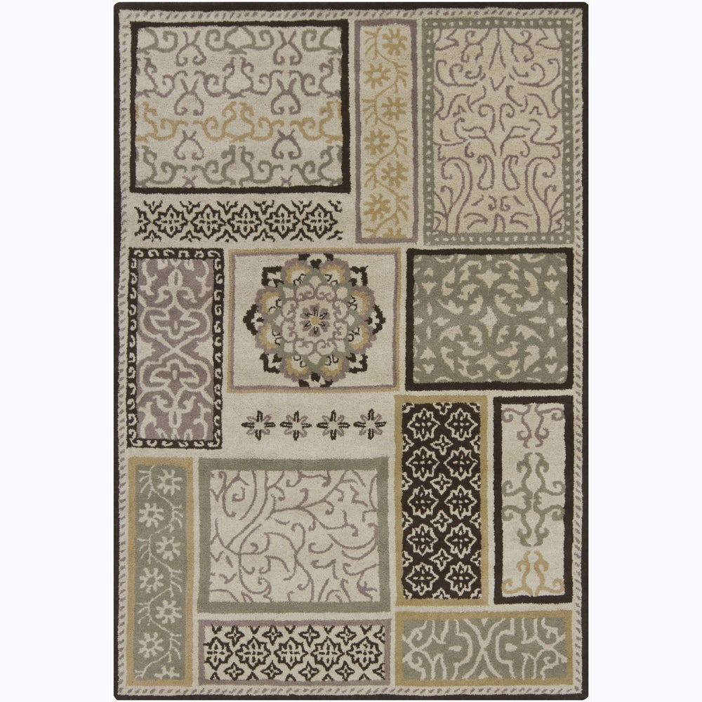 Artist's Loom Hand-tufted Transitional Floral Wool Rug - 7'x10'