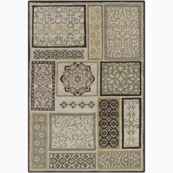 Artist's Loom Hand-tufted Transitional Floral Wool Rug - 7'x10' - Thumbnail 0