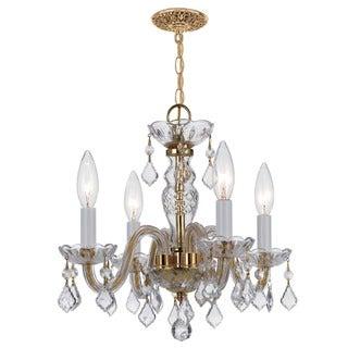 Crystorama Traditional 4-light Polished Brass Chandelier