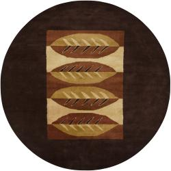 Artist's Loom Hand-tufted Contemporary Geometric Wool Rug (9' Round)