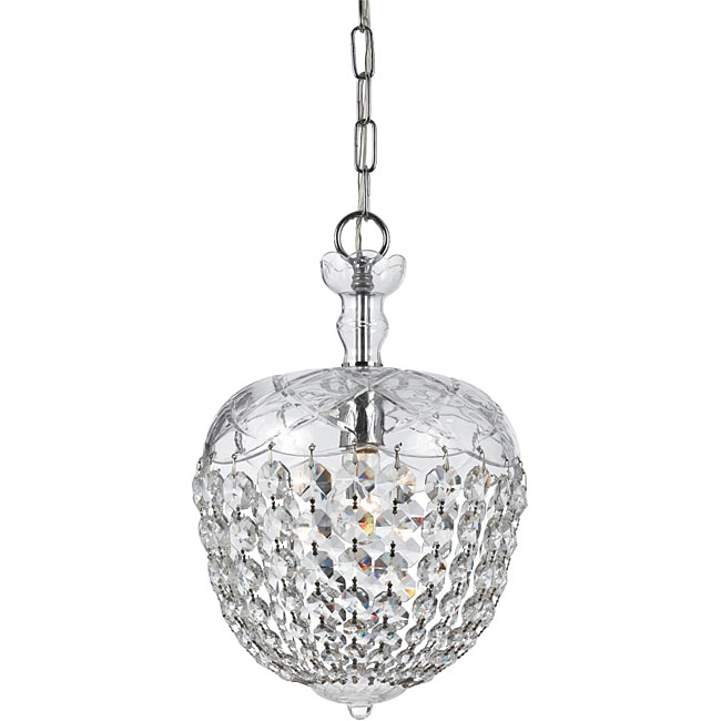 Crystorama Celia Collection 1-light Polished Chrome Pendant