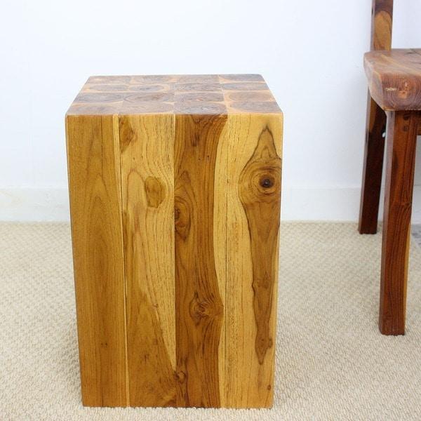 Handmade 12 x 18 Golden Oak Oiled Hollow Teak Block (Thailand)