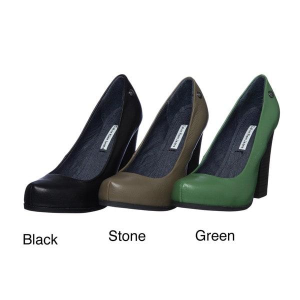 Calvin Klein Jeans Women's 'Nichelle' Leather Heels