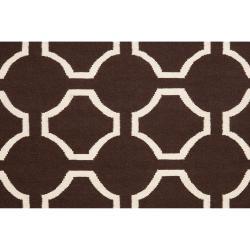 Jill Rosenwald Hand-woven Brown Cairo Wool Rug (5' x 8') - Thumbnail 2