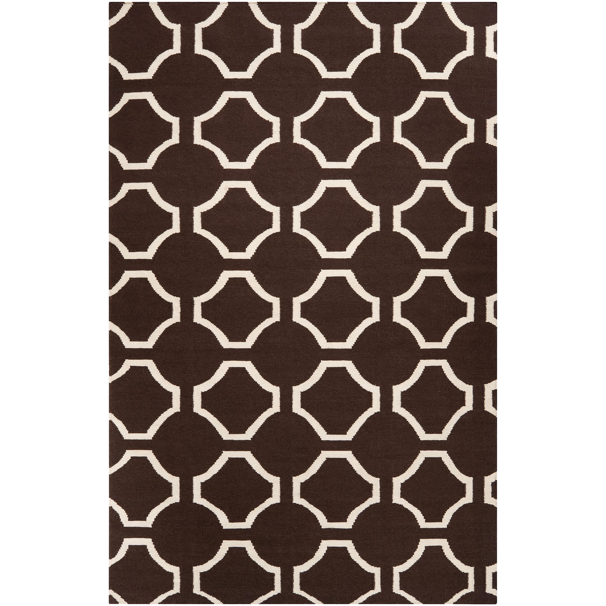 Jill Rosenwald Hand-woven Brown Cairo Wool Rug (5' x 8')