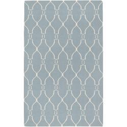Hand-woven Blue Masoleum Wool Rug (3'6 x 5'6)