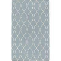 Hand-woven Blue Masoleum Wool Area Rug (3'6 x 5'6)
