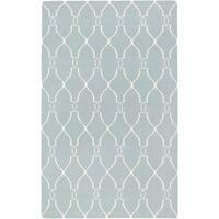 "Hand-woven Blue Masoleum Wool Area Rug - 3'6"" x 5'6"""