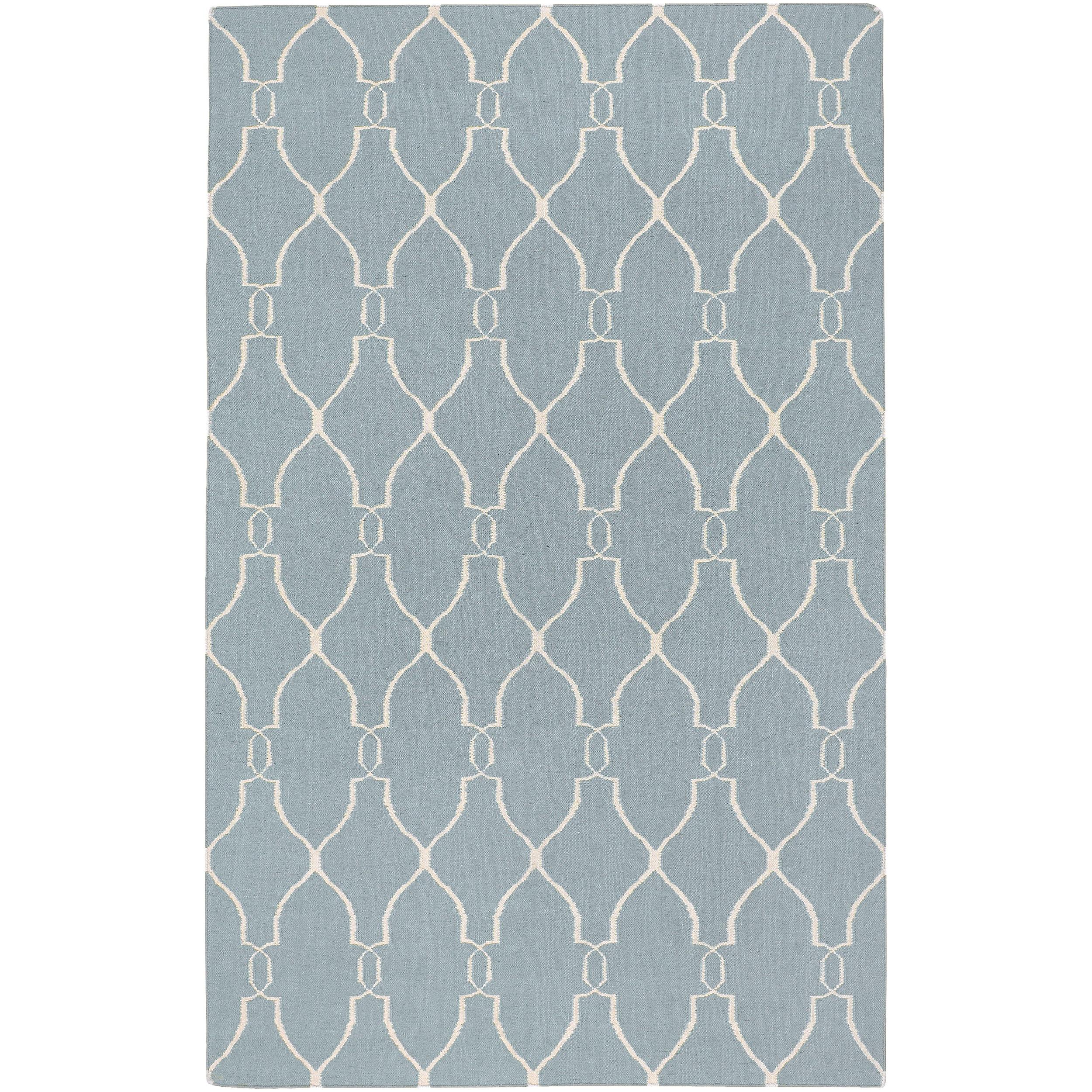 Hand-woven Blue Masoleum Wool Rug (9' x 13')
