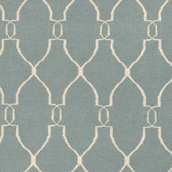 Hand-woven Blue Masoleum Wool Rug (9' x 13') - Thumbnail 2