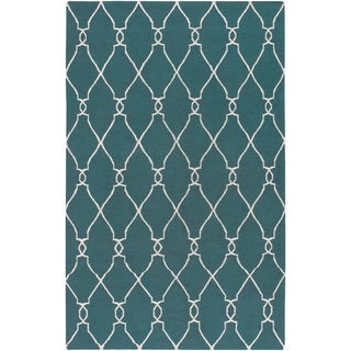Link to Hand-woven Blue Halicarn Wool Area Rug - 9' x 13' Similar Items in Rugs