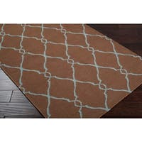 """Hand-woven Brown Rhodes Wool Area Rug - 2'6"""" x 8'"""
