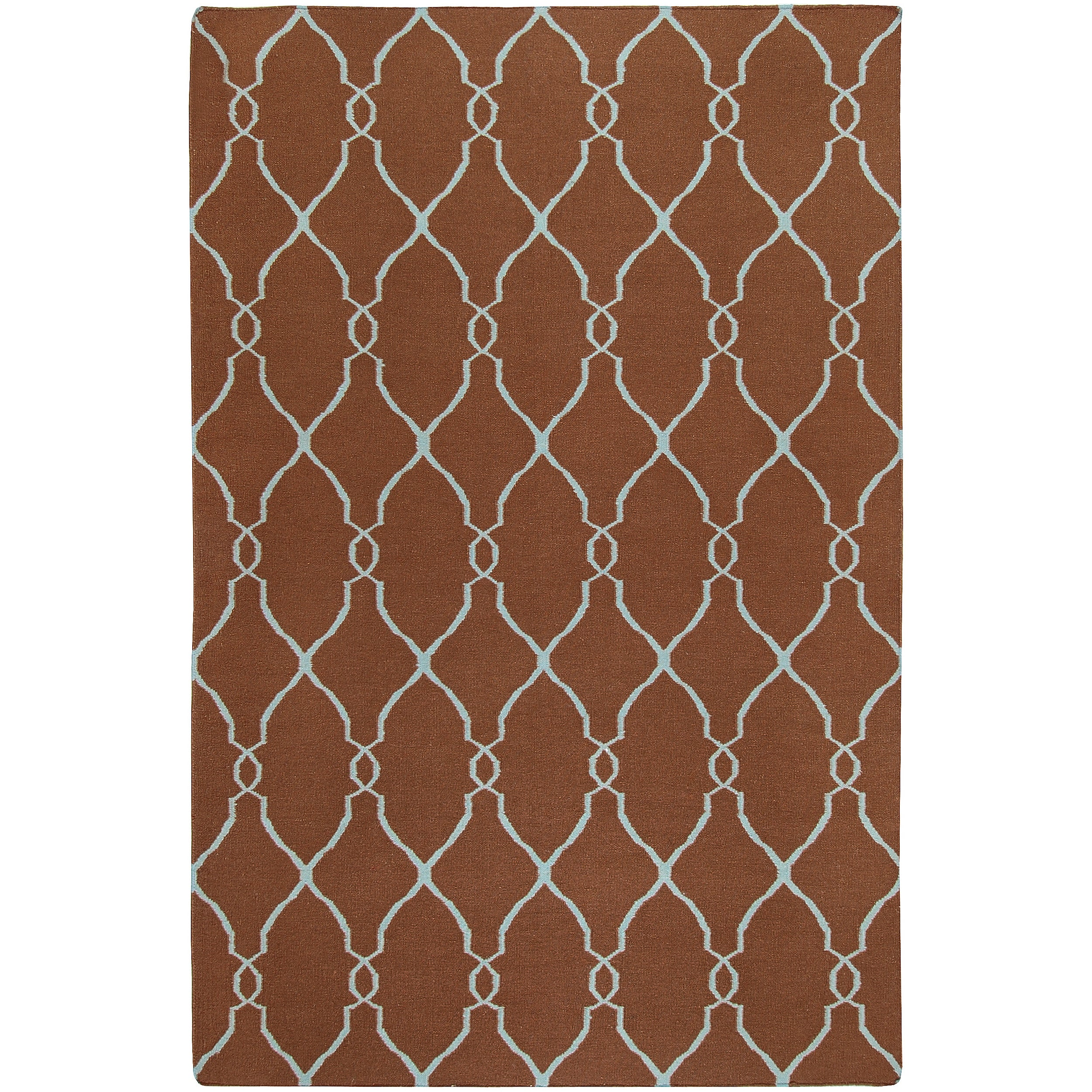 Hand-woven Brown Rhodes Wool Area Rug - 9' x 13'