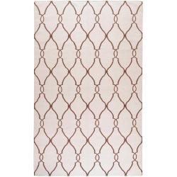 Hand-woven Colossus Ivory Flatweave Wool Area Rug (3'6 x 5'6) - Thumbnail 0