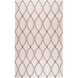 Hand-woven Colossus Ivory Flatweave Wool Rug (9' x 13')