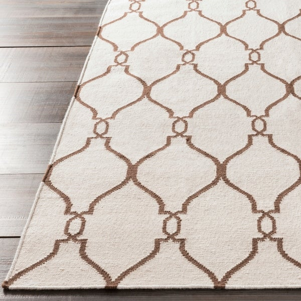 Hand-woven Colossus Ivory Flatweave Wool Area Rug - 9' x 13'