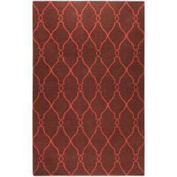 Hand-woven Brown Ishtar Wool Rug (3'6 x 5'6)