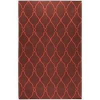 Hand-woven Brown Ishtar Wool Area Rug (9' x 13')