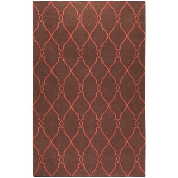Hand-woven Brown Ishtar Wool Area Rug - 9' x 13'