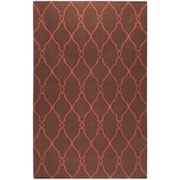 Hand-woven Brown Ishtar Wool Area Rug - 9' x 13'