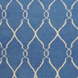 Hand-woven Blue Brewer Wool Rug (9' x 13')