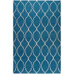 Hand-woven Blue Brewer Wool Area Rug (9' x 13') - Thumbnail 0