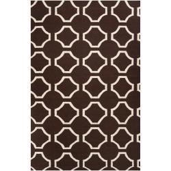Hand-woven Brown Cairo Wool Rug (8' x 11')