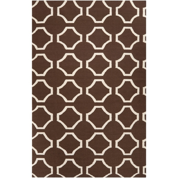 Hand-woven Brown Cairo Wool Area Rug - 8' x 11'