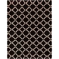 Hand-woven Black Cluny Wool Area Rug - 8' x 11'