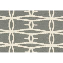 Hand-woven Green Itapu Wool Rug (3'6 x 5'6)