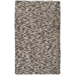 Hand-woven White Galilei New Zealand Wool Plush Textured Rug (5' x 8')