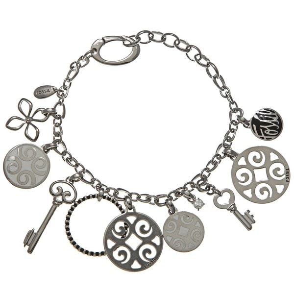 Fossil Jewelry Women's Stainless Steel Charm Bracelet