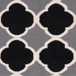 Hand-woven Grey Wool Bohlin Reversible Rug (8' x 11') - Thumbnail 2