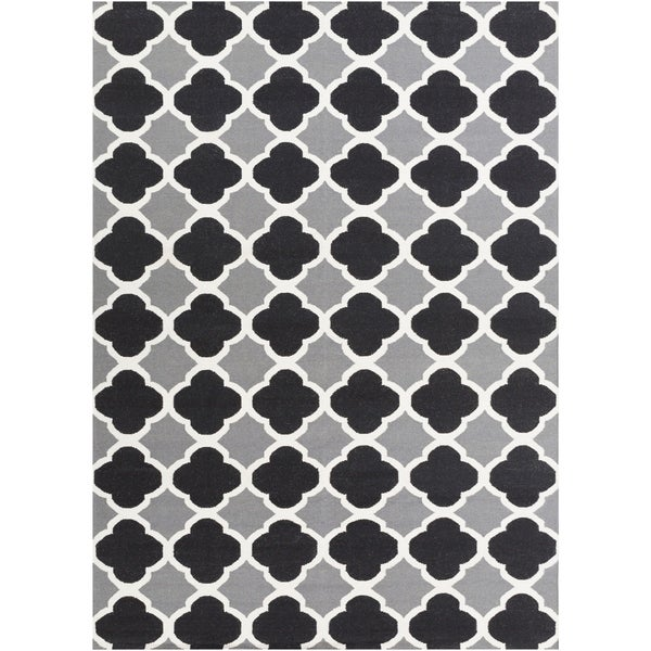 Hand-woven Grey Wool Bohlin Reversible Area Rug - 8' x 11'