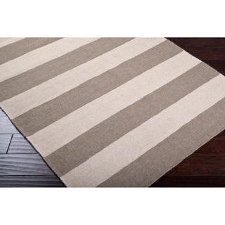 Hand-woven Beige Wool Nikolay Rug (5' x 8')