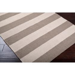 Hand-woven Beige Wool Nikolay Rug (3'6 x 5'6) - Thumbnail 1