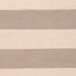 Hand-woven Beige Wool Nikolay Rug (3'6 x 5'6) - Thumbnail 2