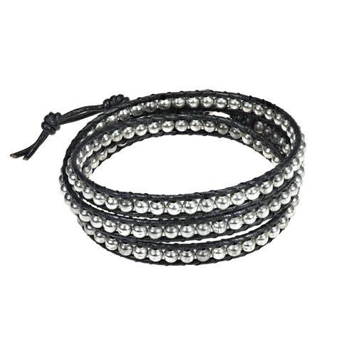 Handmade Sublime Beads Leather Bracelet (Thailand)