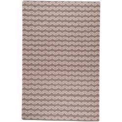 Hand-woven Tan Wool Sheng Area Rug (8' x 11') - Thumbnail 0