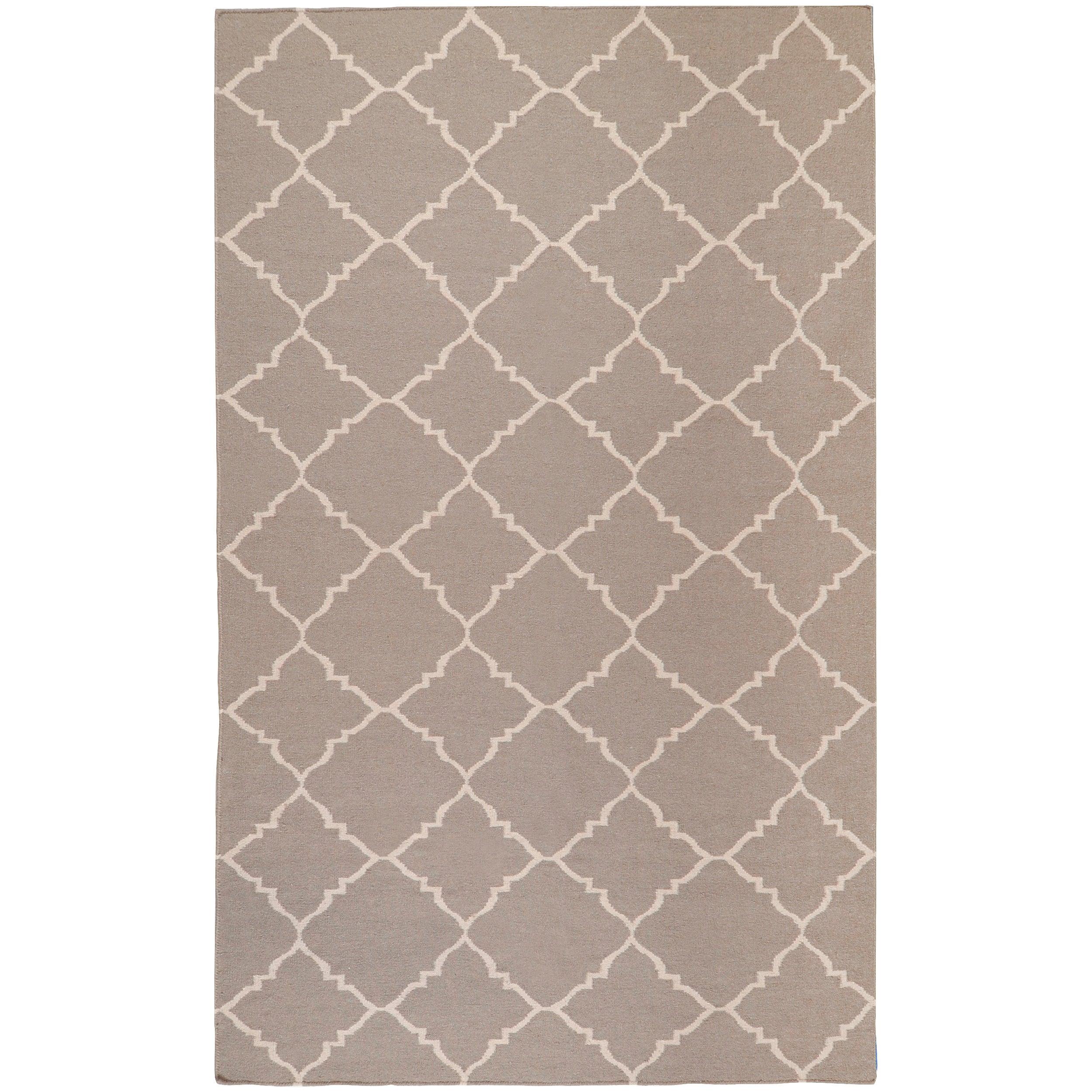 Hand-woven Gray Wool Bascom Rug (8' x 11')
