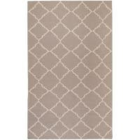 Hand-woven Gray Wool Bascom Area Rug (8' x 11')