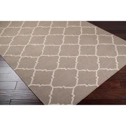 Hand-woven Gray Wool Bascom Rug (5' x 8')