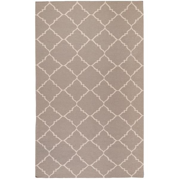 Hand-woven Gray Wool Bascom Area Rug - 5' x 8'