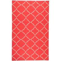 Hand-woven Red Wool Biro Area Rug (8' x 11')